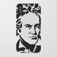 beethoven iPhone & iPod Cases featuring Beethoven by b & c