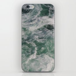Ocean Waves Ariel View | Sea | Water Photography iPhone Skin
