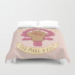 Femme Is Not Fragile Duvet Cover