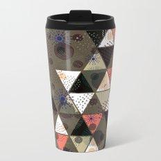 Abstract geometric pattern.7 Metal Travel Mug