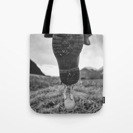 Let's Explore (Black and White) Tote Bag