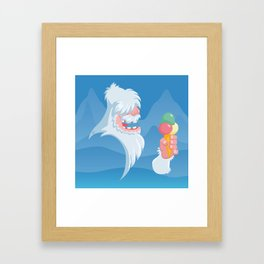 Silly Bestiary: The Yeti Framed Art Print