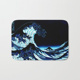 the Great Wave blue Badematte
