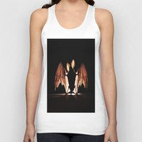 bat Tank Tops featuring bat by new art