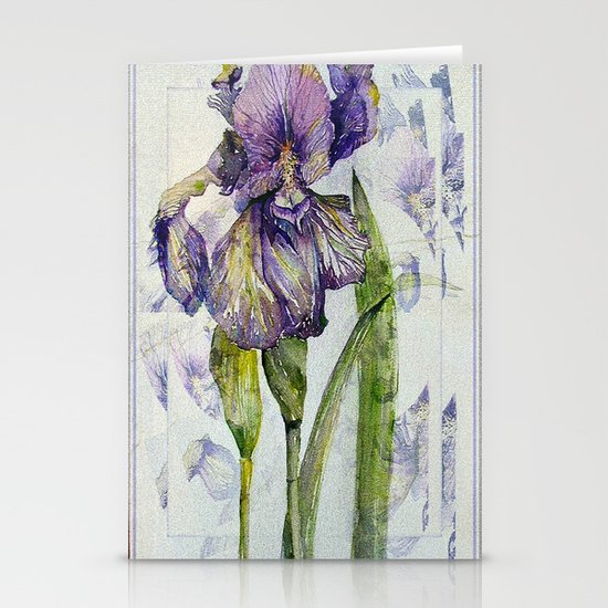 Iris Abstract Stationery Cards