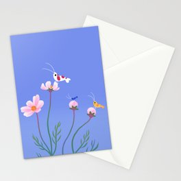 Cosmos and shrimp Stationery Cards