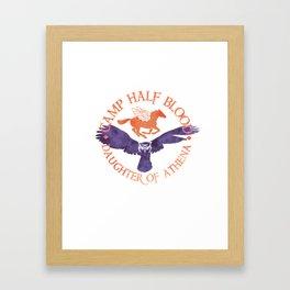 daughter of athena - cabin shirt Framed Art Print