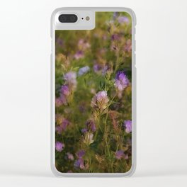 Meadow Flowers Clear iPhone Case