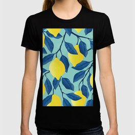 Lemon tree - vintage yellow lemon tree hand drawn illustration T-shirt