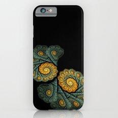 twin spirals on black - windowcurtain iPhone 6s Slim Case
