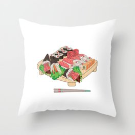 Sushi Platter Throw Pillow