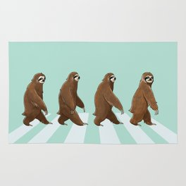 Sloth The Abbey Road in Green Rug