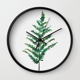 Bedraggled Fern Wall Clock