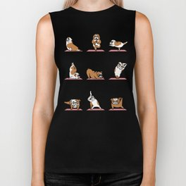 English Bulldog Yoga Biker Tank