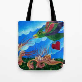 Flight of the wounded heart Tote Bag