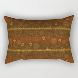 Mushroom Mandalas Rectangular Pillow