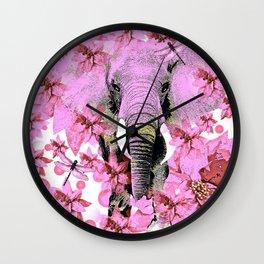 ELEPHANT PINK Wall Clock