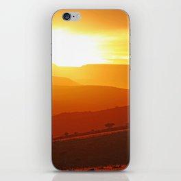 Golden morning in Africa iPhone Skin