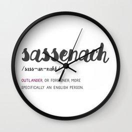 Outlander Sassenach Definition Wall Clock