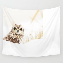 Short eared owl Wall Tapestry