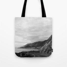 Big Sur Sunset Drive Tote Bag