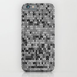 Heathered knit textile 4 iPhone Case