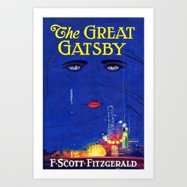 Great Gatsby Poster: F Scott Fitzgerald Book Cover Print Art Print