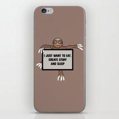Eat, Create and Sleep iPhone & iPod Skin