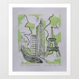 The World Traveler Art Print