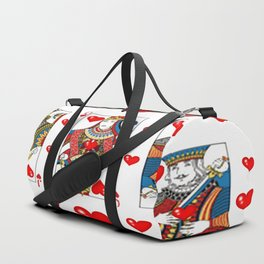 JACK, QUEEN, KING OF HEARTS SUIT CASINO  FACE CARDS Duffle Bag