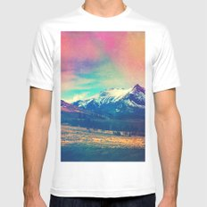 Grand Illusion. Mens Fitted Tee LARGE White