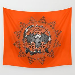 Skull and Crossbones Medallion Wall Tapestry