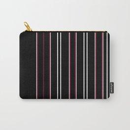 Decorative Burgundy Black Stripe Design Carry-All Pouch