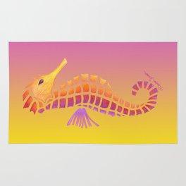 Sunset Seahorse Rug