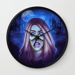 Undead Woman Wall Clock