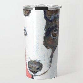 Greyhound Portrait Travel Mug