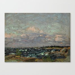 Tom Thomson Windy Day- Rough Weather in the Islands 1914. Canadian Landscape Artist Canvas Print