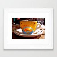 cafe Framed Art Prints featuring Cafe by Trina Ko