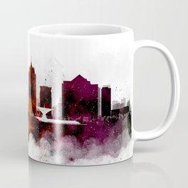 Milwaukee Watercolor Skyline Coffee Mug