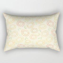 smiley flowers Rectangular Pillow