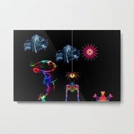 The Enchanted Smoke Spider Metal Print