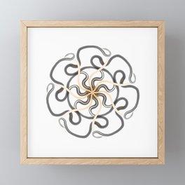 Solar Celtic Snake Mandala Framed Mini Art Print