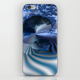 Organizing Chaos -- Striped fractal layers and details iPhone Skin