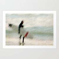 surfer Art Prints featuring Surfer by Anne Staub