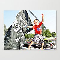pirate ship Canvas Prints featuring Pirate Ship by Stephanie Todt