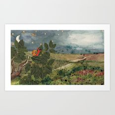 Snail in the Tree Poster Art Print
