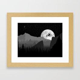 MTB Moon Framed Art Print
