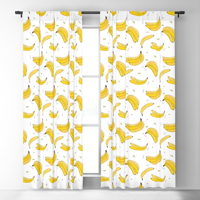 Banana print Blackout Curtain