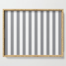 Vertical Grey Stripes Serving Tray