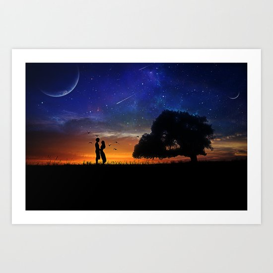 Alone in the Universe Art Print